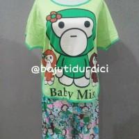 Piyama Baju Tidur Baby Doll Setelan Baby Milo Green