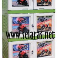 Bilpin GP 3 Lemari Plastik 3 Susun 6 Pintu Gambar Motor DIY Bagikan :