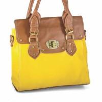 Tas wanita GF. 3106 warna kuning , sintetis
