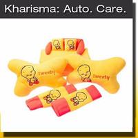 Jual JUAL Car Set Sarung Tissue Bantal Mobil Leher Kuning Tweety 3 in 1 (CS Murah