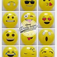 balon latex emoji / balon motif emoticon / balon emoticon
