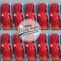 tirai foil merahr / backdrop merah / foil fringe curtain/ background