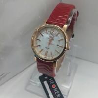 JAM TANGAN HEGNER HW-415 ROSEGOLD RED ORIGINAL