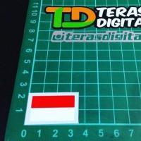 Jual Cutting Sticker bendera merah putih kecil 3cm Murah