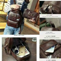 RS541 backpack 2in1 cattie coffe tas import / tas wanita / backpack