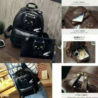RS540 backpack 2in1 cattie black. tas import / tas wanita / backpack