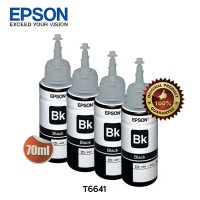 Epson Tinta Botol Set Original T6641 - Black 4pcs