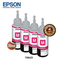 Epson Tinta Botol Set Original T6643 - Magenta 4pcs