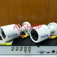PAKET CCTV SAMSUNG 2 KAMERA 2.0 MP FULL HD 1080P DVR HIKVISION