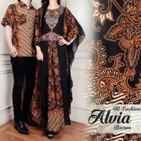 couple kaftan satin aulia batik layer