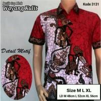 Jual kemeja batik pria modern | wayang kulit Murah