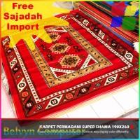 Karpet Permadani MZ03 Red Maroon 190x260 Bonus Sajadah Import