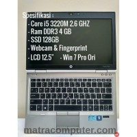 Laptop Gaming HP Elitebook 2570p - Core I5-3320M - SSD 128 - Ram 4