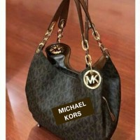 JUAL TAS MICHAEL KORS FULTON LARGE SHOULDER TOTE BROWN ORIGINAL ASLI
