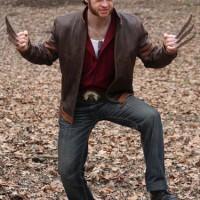 Jaket Semi Kulit Sintetis Jacket Wolverine Logan X Men Cokelat Pria