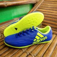 sepatu futsal adidas x biru