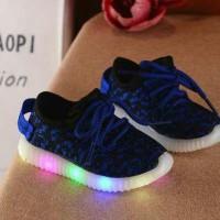 Jual Sepatu Led Anak Leopard New 1th sd 6th 21-35 DARK BLUE Murah