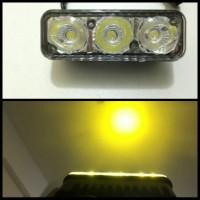 Harga lampu sorot led 3 mata drl foglamp mobil motor tembus | Hargalu.com