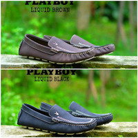 Sepatu Pria Casual Moccasin Slop Playboy Liquid Original