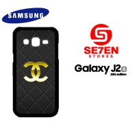 Casing HP Samsung J2 2016 Chanel logo gold Custom Hardcase Cover