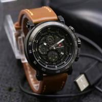 Jam Tangan Pria Swiss Army Chronograph Date Analog Leather