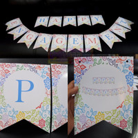 BANNER HAPPY ENGAGEMENT / BUNTING FLAG PERAYAAN PERTUNANGAN