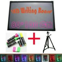 Jual LED WRITING BOART - PAPAN TULIS LED - PAPAN IKLAN - 1SET 80X100cm Murah