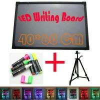Jual LED WRITING BOARD - Papan Tulis LED - PAPAN IKLAN - 1SET 40X60cm Murah
