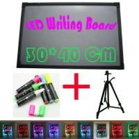Jual LED WRITING BOARD - PAPAN TULIS LED - PAPAN IKLAN - 1SET 30X40cm Murah