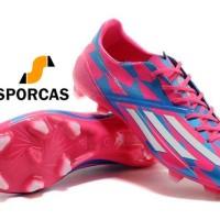 GRATIS KAOS KAKI BOLA - Sepatu Adidas Adizero F50 Pink Blue - FG -