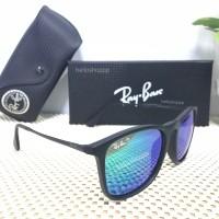 Kacamata Rayban Chris Black Doff Blue Green Tosca Lens Polarized
