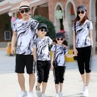 Baju keluarga impor baju couple ayah ibu anak good quality FMO-03