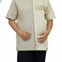 baju koko albatar bordir lengan pendek kombinasi warna
