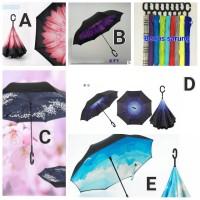 Jual Payung terbalik gagang C Kazbrella untuk mobil harga murah di jakarta Murah