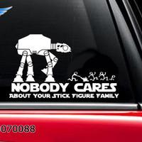 Stiker Mobil Star Wars Stick Figure Happy Family Sticker Not Care 01