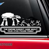 Stiker Mobil Star Wars Stick Figure Happy Family Sticker Not Care 02