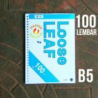 Toyo B5 100 lbr Polos isi Loose Leaf / Kertas Refill Binder 26 Holes