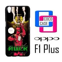 Casing Hp Oppo F1 Plus Hulk vs Deadpool X4655