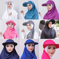 Hijab Topi Traveller/Jilbab Olahraga/Kerudung Instan/Pashmina/Sport