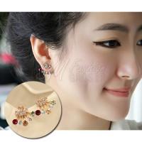 Anting Import Korea Mahkota & Bintang Mutiara Warna Warni (Earring)