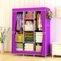 Harga 028cx lemari pakaian ukuran besar rak jumbo bahan oxford | antitipu.com