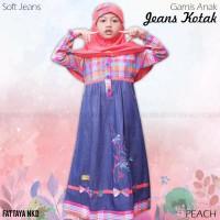 Gamis Anak Fattaya, Soft Jeans, Size 8, Busana Muslim Anak Perempuan
