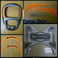 Paket Aksesoris Resmi Honda New Scoopy Fi Esp Led 2017 Sporty White