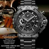Jam tangan Alexandre Christie AC 9205 original full black