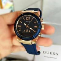 Jam tangan guess connect C0002M1 Medium size original smartwatch blue