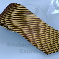 Jual Dasi pria import formal warna kuning gold double garis sse fashion Murah