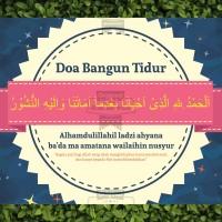Kaligrafi / Poster / Pajangan / Wall Decor Islami doa bangun tidur
