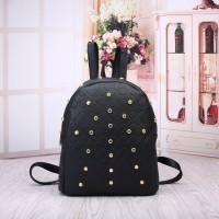 Tas Ransel Sporty Fashion Wanita Black Backpack Import Pergi Sekolah