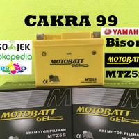 Aki Yamaha Bison Motobatt MTZ5S Aki motor gel kering bebas perawatan