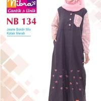 Gamis Muslimah Nibras NB 134 Kotak Merah